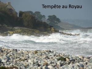Tempête au Royau