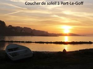 Coucher de soleil à port Le Goff