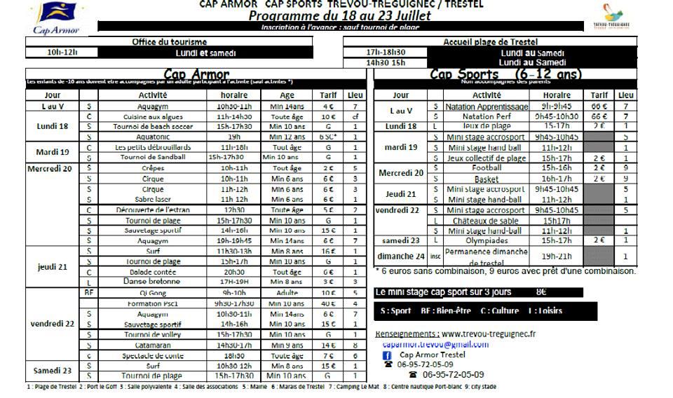 2016-07 le 17 programme Cap Armor du 18 au 23 juillet