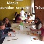 Trévou-Tréguignec  menus du restaurant scolaire communal septembre 2019