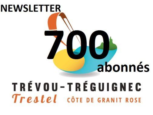 Trévou-Tréguignec: vous êtes 721 abonnés à recevoir cette Newsletter