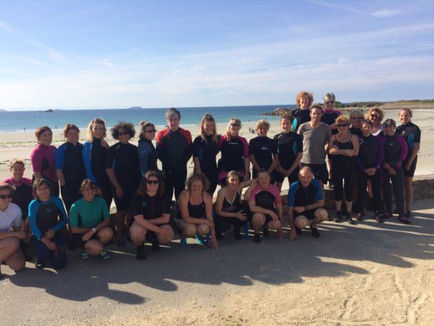 Trévou-Tréguignec :  cours d'Aquagym en mer  avec FitOcéan  le  lundi à 10h15,  le mardi à 18h45 et le samedi matin à Trestel