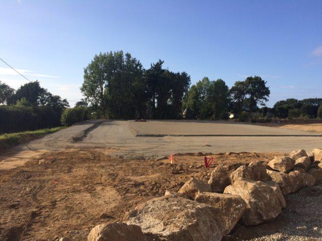 Trévou-Tréguignec   salle de sports: le chantier reprendra à la mi septembre