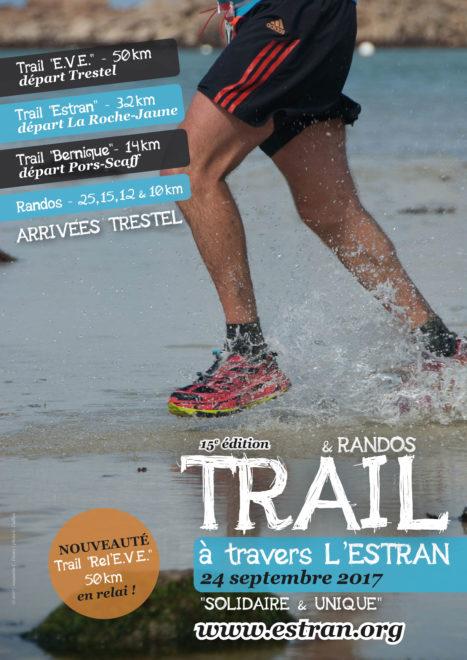 Trévou-Tréguignec  la 15ème édition de » À travers l'estran» le 24 septembre; randonnées au départ de Trestel  et trails