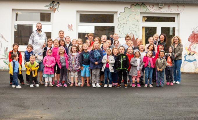 Trévou-Tréguignec Rentrée scolaire à l'école saint Michel pour 52 enfants de la maternelle au CM2