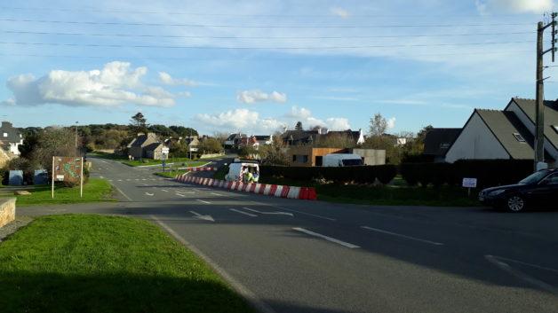 Trévou-Tréguignec : modification du carrefour du Royau pour ralentir les voitures qui prennent la rue de Tréguier