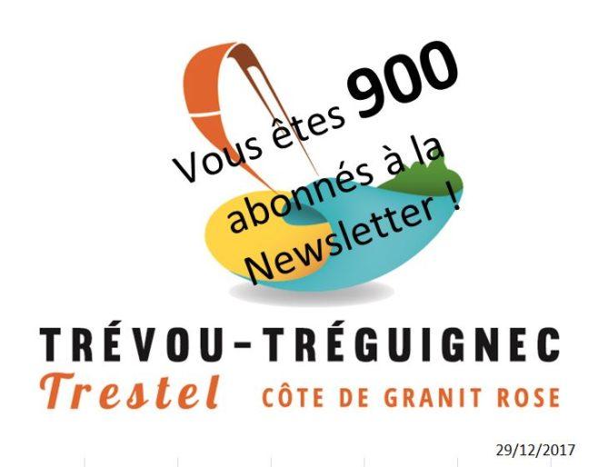 Trévou-Tréguignec       5 janvier 2018,   101ème  Newsletter …     Vous êtes 912 abonnés