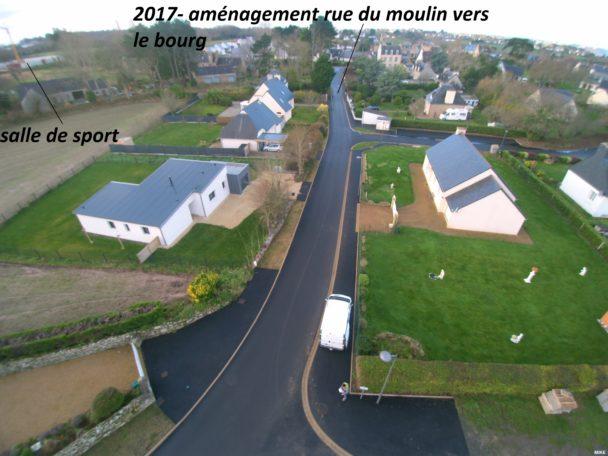 Trévou-Tréguignec dernière phase de travaux Rue du Moulin les plantations