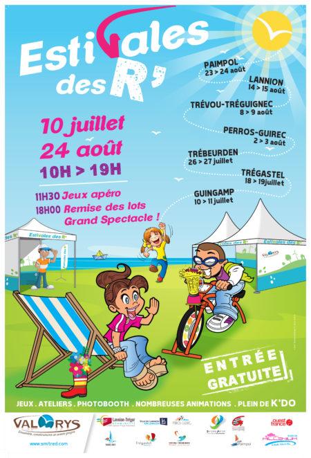 Trévou-Tréguignec Valorys et les ESTIVALES DES R  à Trestel les 8 et 9 août 2018; nombreuses animations et spectacles pour tous… l'affiche!