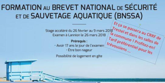 Trévou-Tréguignec un stage pour préparer le Brevet National de Sécurité et de Sauvetage Aquatique (BNSSA) à Trestel ! aux vacances de février