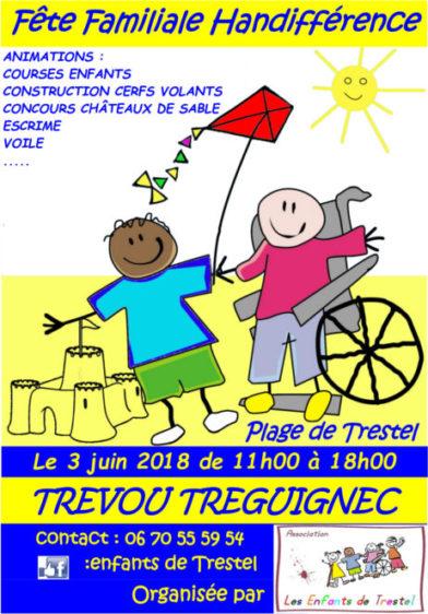 Trévou-Tréguignec     la journée HANDIFFÉRENCE  dimanche 3 juin… «on compte sur vous!!»….   Inscriptions aux courses enfants à faire pour le 25 mai de préférence..(ici quelques photos souvenirs de 2017)