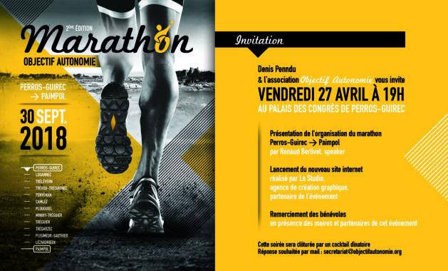 Trévou-Tréguignec le prochain marathon Objectif Autonomie en préparation. Les bénévoles du 1er marathon de septembre 2017 ont été reçus au Palais des Congrès de Perros pour la présentation du prochain marathon