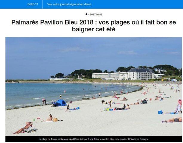 Trévou-Tréguignec La plage de Trestel décroche le Pavillon Bleu 2018, seule plage du département (reportage France 3)
