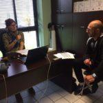 Trévou-Tréguignec Corinne Lançon coordinatrice des TAP  (Temps d'Activités Périscolaires) prépare la prochaine année scolaire