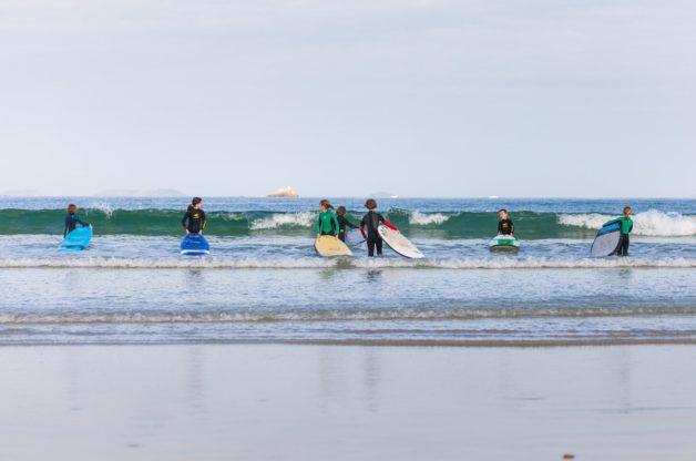 Trévou-Tréguignec CIDS (Centre de Découverte Sportive) Les longues vacances de Pâques ont rempli les  différents ateliers  dont le Surf à Trestel