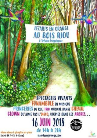 Trévou-Tréguignec L'asso LéZarts en Grange propose un super programme pour tous ce samedi 16 juin au BoisRiou; à ne pas manquer  Découvrez l'asso et le programme ici;