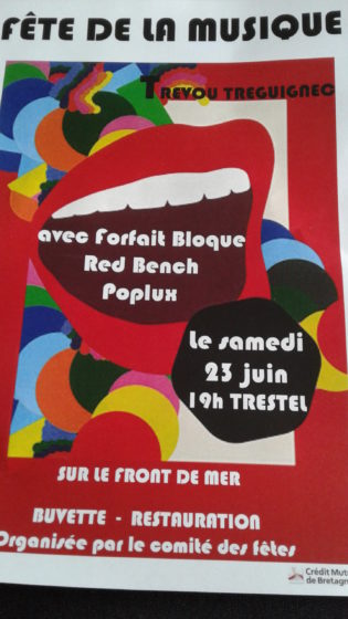 Trévou-Tréguignec  La fête de la musique  à Trestel le samedi 23 juin, un sacré plateau à découvrir ici…