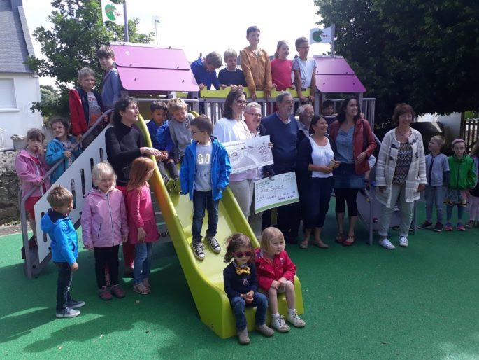 Trévou-Tréguignec Trélévern RPI la structure de jeux de l'école maternelle a été inaugurée  ce jeudi
