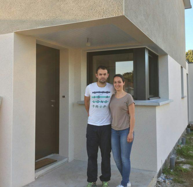 Trévou-Tréguignec Aboutissement d'un projet… les premiers habitants  de la nouvelle résidence de Park Mezou ont pris possession de leur maison ce jeudi… «Bienvenue chez nous!!…»