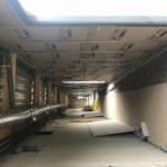 Trévou-Tréguignec  salle de sports: les travaux avancent bien… actuellement phase placo