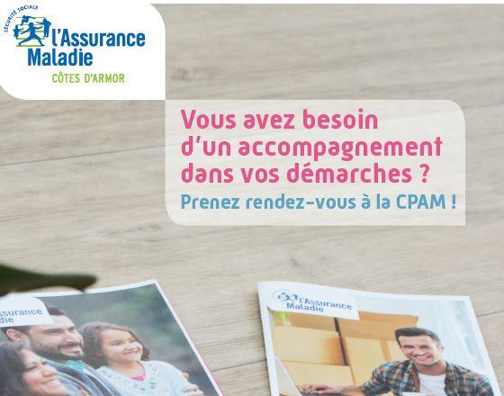 Trévou-Tréguignec La CPAM (Caisse Primaire d'Assurance-Maladie) vous accueille sur  RV