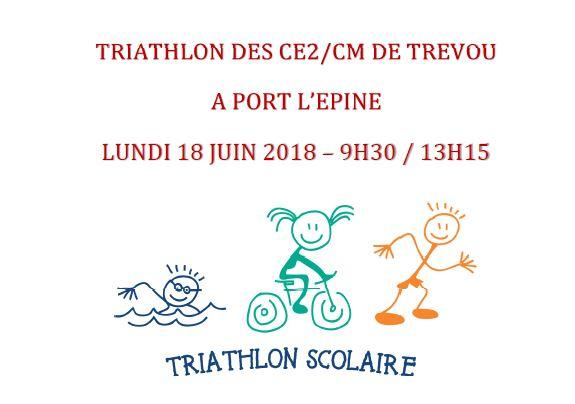 Trévou-Tréguignec découvrez les photos du triathlon des enfants de CE2 et CM du RPI de Trévou-Trélévern à Port-l'Épine lundi 18 juin