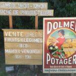 Trévou-Tréguignec Marché à la ferme: de 9h30 à 12h30 et visite guidée de l'exploitation Bio à 11h  chaque samedi matin à Dolmen et Potager, entre le 7 juillet et le 25 août;  mais aussi vente directe le mardi et le vendredi de 16h à 19h toute l'année (photos et vidéoici)