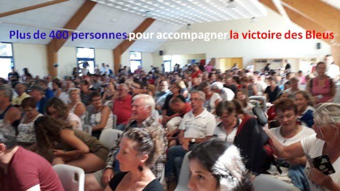 Trévou-Tréguignec  plus de 400 personnes pour la finale de la coupe du monde FRANCE – CROATIE    à la salle polyvalente le dimanche 15 juillet,  vidéo, photos ici