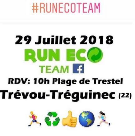 Trévou-Tréguignec la Run Eco Team vous donne RV à Trestel le dimanche 29 juillet à 10h pour participer à la protection de notre environnement