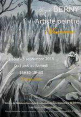 Trévou-Tréguignec CRRF (Centre de Rééducation) de Trestel expo de peintures d'Angèle Berny
