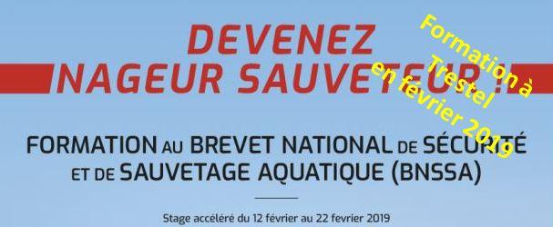 Trévou-T En février 2019 un stage pour préparer au Brevet National de Sécurité et Sauvetage Aquatique Tarif préférentiel pour les Trévousiens; il est déjà possible de s'inscrire…
