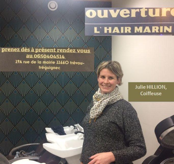 Trévou-Tréguignec  Julie Hillion a ouvert  son salon de coiffure le 10 décembre et vous êtes déjà nombreux à apprécier son savoir-faire…