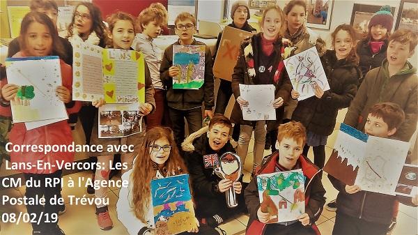Les enfants de la classe d'Anne-Flore Ollivier (RPI) correspondent avec les enfants de l'école de Lans-en-Vercors(Isère) (jumelage)           Trévou-Tréguignec