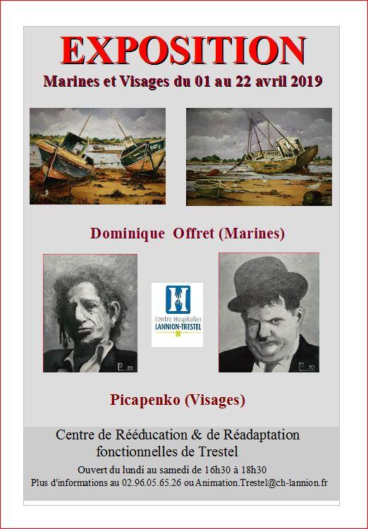 CRRF Trestel nouvelle expo (marines et visages)  jusqu'au 22 avril                          Trévou-Tréguignec