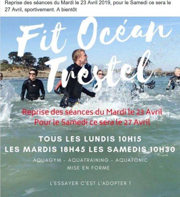 Fit ocean les séances d'aqua gym /fit/ longe-côte reprennent le 23 avril                                         Trévou-Tréguignec