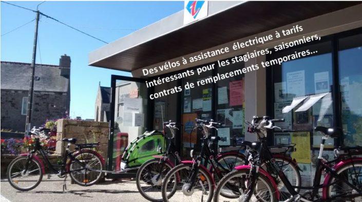 Les saisonniers,  stagiaires, employés temporaires peuvent louer des Vélos à Assistance Électrique à tarifs très intéressants  Trévou-Tréguignec