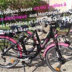 Des vélos à assistance électrique en location à Trévou chez Géraldine et Jérémie Quintard aux Hortensias au bourg