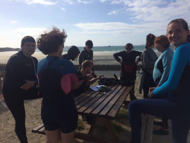 Fit ocean les séances d'aqua gym /fit/ longe-côte  des cours 3 fois par semaine                                       Trévou-Tréguignec
