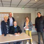 Roland Riou retraité trévousien a  dédicacé son livre «mémoires»  «P'tit Job» ce samedi 4 mai. Livre à vendre au Dauffy (presse)