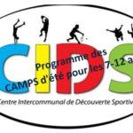CIDS  Centre de Loisirs des camps de 2 jours et de 5 jours pour les 7 à 12 ans cet été; sur inscriptions                                Trévou-Tréguignec