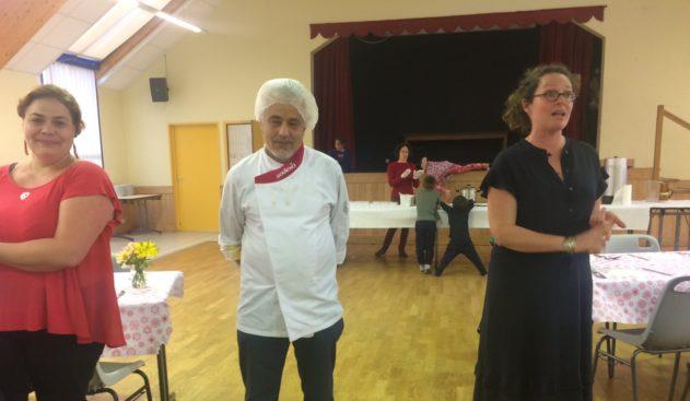 Gros succès du  couscous tunisien organisé par les parents d'élèves de l'École st Michel à la salle polyvalente le samedi 15 juin                       Trévou