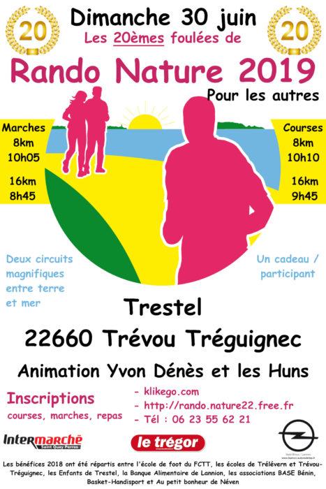 20ème édition de Rando Nature le dimanche 30 juin    entre Trévou et Trélévern