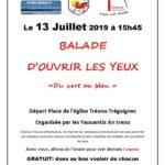 Le Pardon du bourg de Trévou … c'est aussi  une rando «entre vert et bleu» le samedi 13 juillet  à 15h45