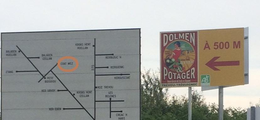 Dolmen et Potager: une exploitation maraîchère en vente directe: des visites commentées tous les samedis à 11h  jusqu'au 31 août: des astuces pour jardiner Bio; vente directe le mardi, mercredi vendredi et samedi : l'occasion d'acheter local  (petite vidéo)     Trévou