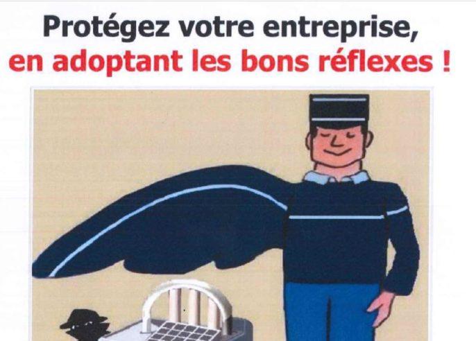 Opération  Tranquillité Entreprises  mise en place par la Gendarmerie des Côtes d'Armor                       Trévou