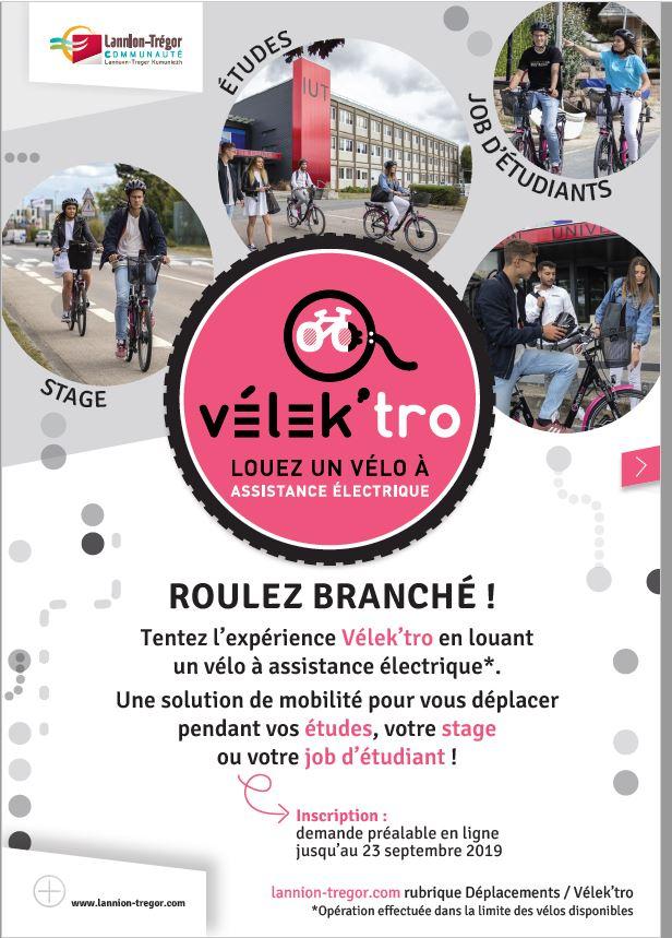 Des Vélos à assistance électrique pour les lycéens, les étudiants  à tarifs très attractifs… mais aussi pour les  actifs du territoire… sur inscription à Lannion Trégor Communauté LTC