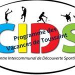 CIDS (Centre Intercommunal de Découverte Sportive) Trévou : le programme des vacances de Toussaint pour les 6-11 ans et pour les enfants de  moyenne et grande sections. Inscriptions mercredi  9 octobre de 13h à 16h à Louannec