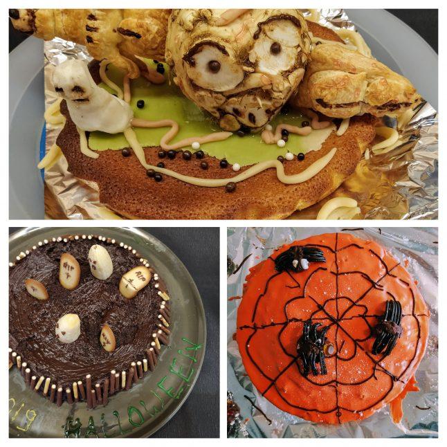 Un goûter d'Hallooween organisé par les parents d'élèves du RPI qui a beaucoup plu aux enfants … et aux parents…  qui ont admiré et dégusté des gâteaux dans le thème!