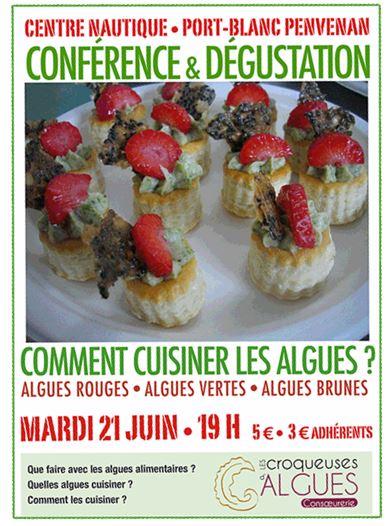 comment cuisiner les algues? conférence le 21 juin à Port-Blanc