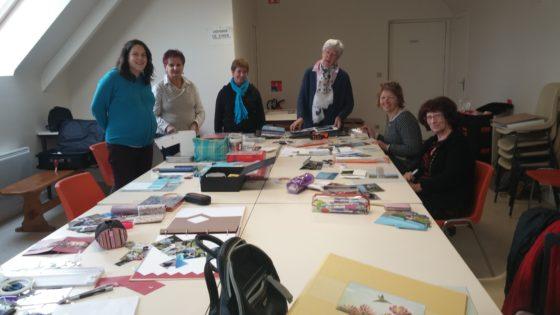 Trévou-Tréguignec Amicale Laïque ateliers Scrapbooking le samedi matin il reste 2 places enfants et 2 places adultes